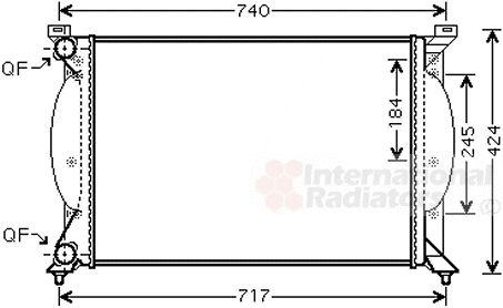 Radiateur, refroidissement du moteur - VAN WEZEL - 03002240