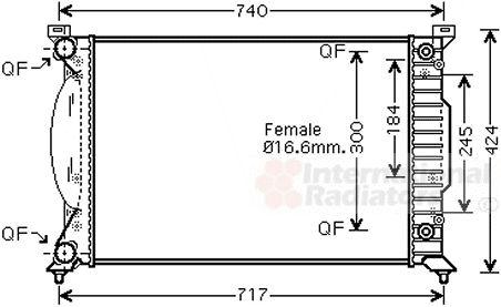 Radiateur, refroidissement du moteur - VAN WEZEL - 03002241