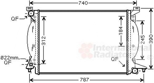 Radiateur, refroidissement du moteur - VAN WEZEL - 03002243