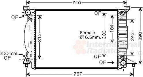 Radiateur, refroidissement du moteur - VAN WEZEL - 03002244