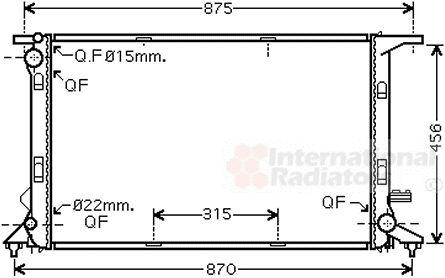 Radiateur, refroidissement du moteur - VAN WEZEL - 03002290