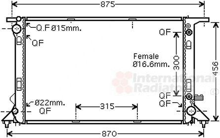 Radiateur, refroidissement du moteur - VAN WEZEL - 03002291