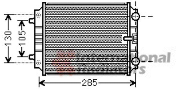 Radiateur, refroidissement du moteur - VAN WEZEL - 03002299