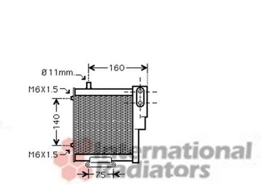 Radiateur d'huile - VAN WEZEL - 03003265