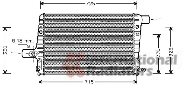 Intercooler, échangeur - VAN WEZEL - 03004136