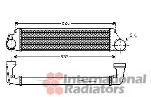 Intercooler, échangeur - VAN WEZEL - 03004224
