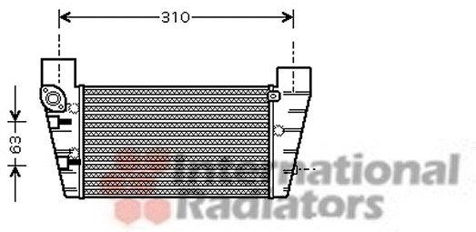 Intercooler, échangeur - VAN WEZEL - 03004248