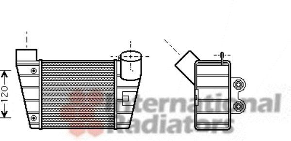 Intercooler, échangeur - VAN WEZEL - 03004283