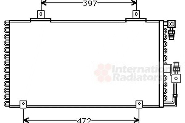 Condenseur, climatisation - VAN WEZEL - 03005106