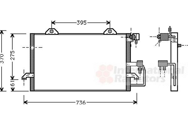 Condenseur, climatisation - VAN WEZEL - 03005118