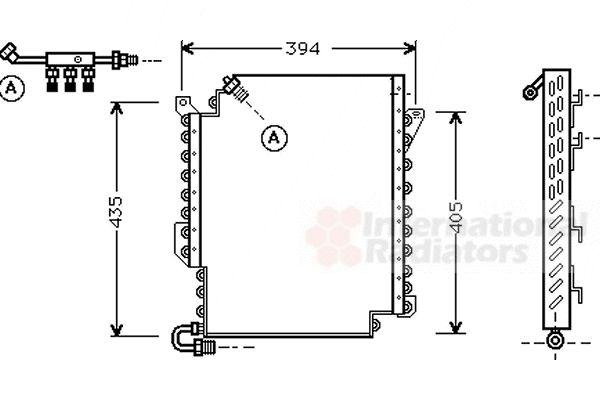 Condenseur, climatisation - VAN WEZEL - 03005119