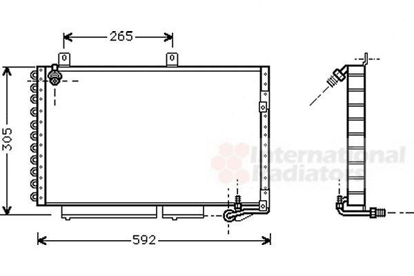 Condenseur, climatisation - VAN WEZEL - 03005120