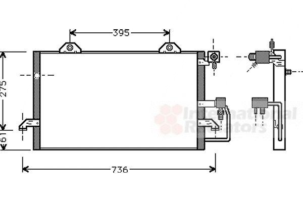 Condenseur, climatisation - VAN WEZEL - 03005121