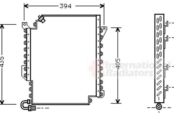 Condenseur, climatisation - VAN WEZEL - 03005135