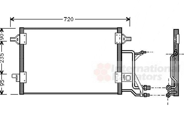 Condenseur, climatisation - VAN WEZEL - 03005176