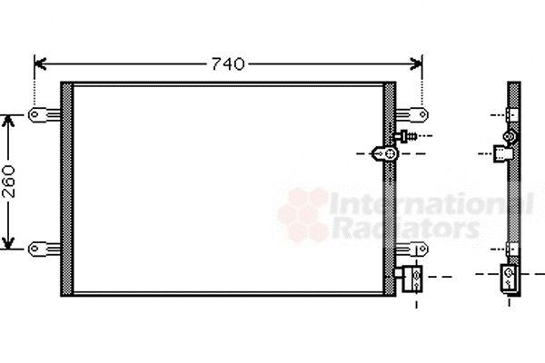 Condenseur, climatisation - VAN WEZEL - 03005237