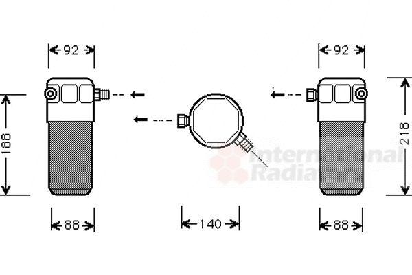 Filtre déshydratant, climatisation - VAN WEZEL - 0300D152