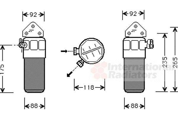 Filtre déshydratant, climatisation - VAN WEZEL - 0300D260