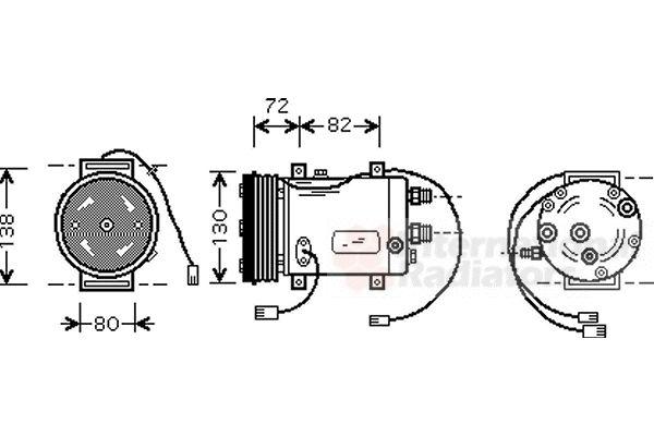 Compresseur, climatisation - VAN WEZEL - 0300K179