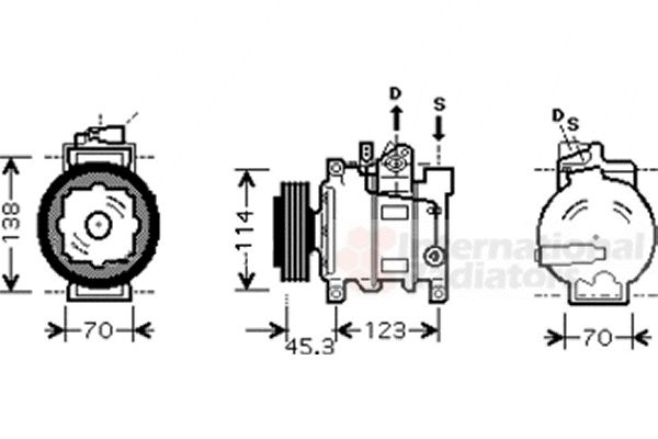 Compresseur, climatisation - VAN WEZEL - 0300K276