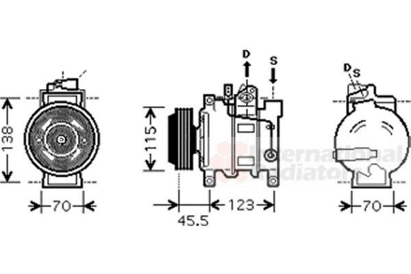 Compresseur, climatisation - VAN WEZEL - 0300K281