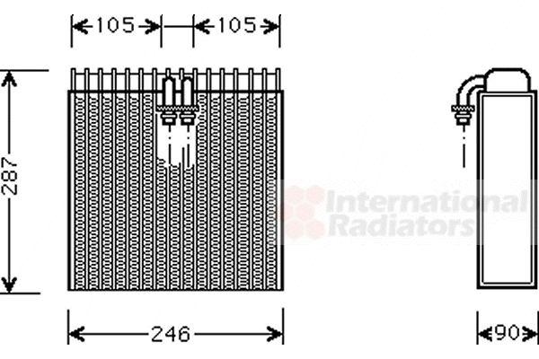 Evaporateur climatisation - VAN WEZEL - 0300V031