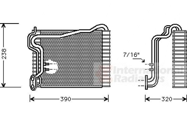 Evaporateur climatisation - VAN WEZEL - 0300V145