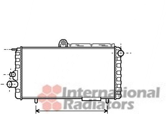 Radiateur, refroidissement du moteur - VAN WEZEL - 01002007