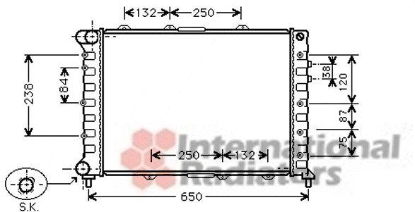 Radiateur, refroidissement du moteur - VAN WEZEL - 01002038