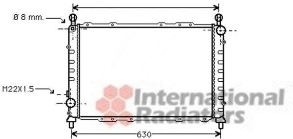 Radiateur, refroidissement du moteur - VAN WEZEL - 01002055