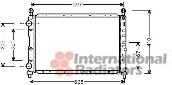 Radiateur, refroidissement du moteur - VAN WEZEL - 01002068