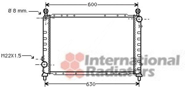 Radiateur, refroidissement du moteur - VAN WEZEL - 01002076