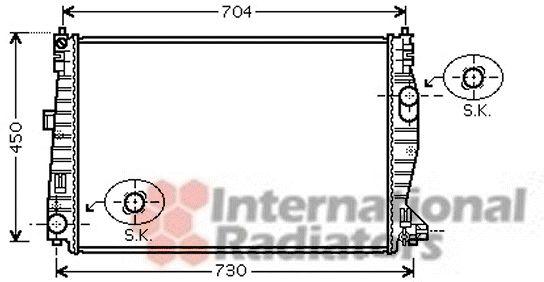 Radiateur, refroidissement du moteur - VAN WEZEL - 01002101