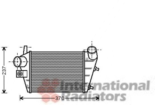 Intercooler, échangeur - VAN WEZEL - 01004085