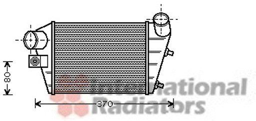 Intercooler, échangeur - VAN WEZEL - 01004086