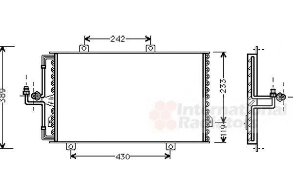 Condenseur, climatisation - VAN WEZEL - 01005060