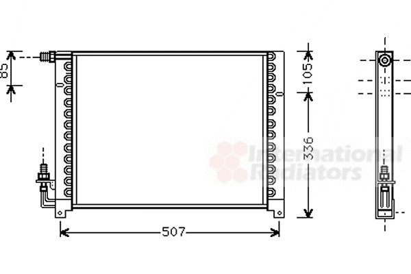 Condenseur, climatisation - VAN WEZEL - 01005061