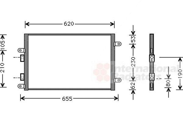 Condenseur, climatisation - VAN WEZEL - 01005077