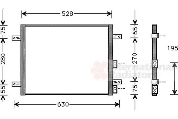 Condenseur, climatisation - VAN WEZEL - 01005081