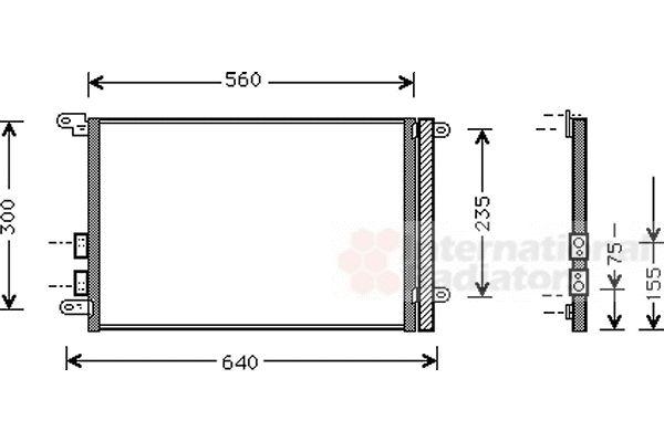 Condenseur, climatisation - VAN WEZEL - 01005082