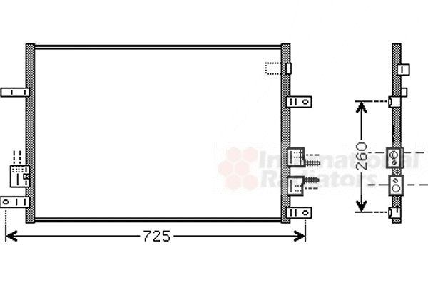 Condenseur, climatisation - VAN WEZEL - 01005097