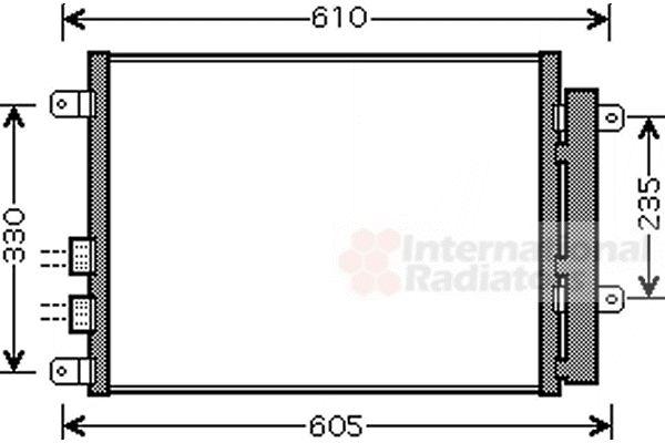 Condenseur, climatisation - VAN WEZEL - 01005109