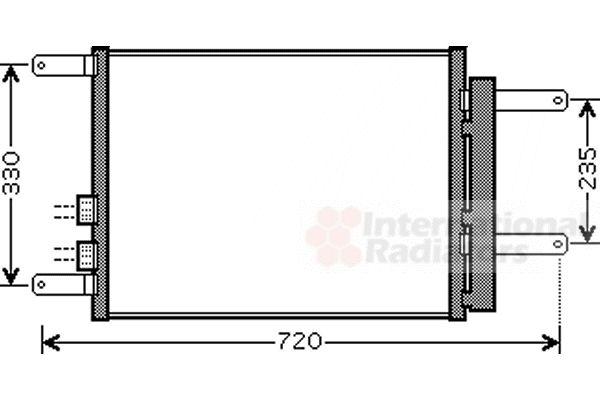Condenseur, climatisation - VAN WEZEL - 01005111