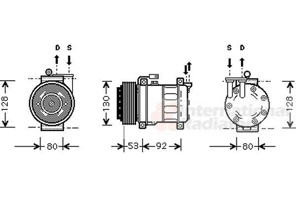 Compresseur, climatisation - VAN WEZEL - 0100K009