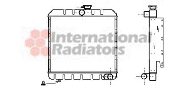 Radiateur, refroidissement du moteur - VAN WEZEL - 02002008