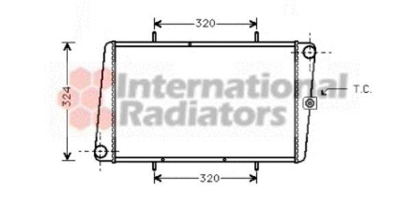 Radiateur, refroidissement du moteur - VAN WEZEL - 02002024