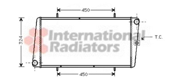 Radiateur, refroidissement du moteur - VAN WEZEL - 02002025