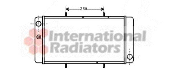 Radiateur, refroidissement du moteur - VAN WEZEL - 02002033