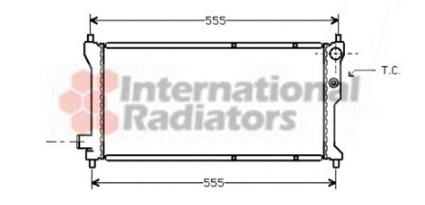 Radiateur, refroidissement du moteur - VAN WEZEL - 02002041
