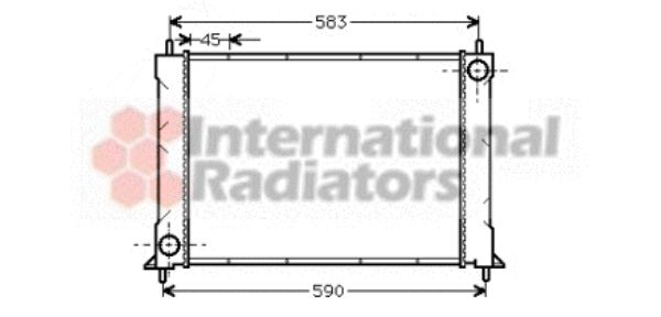 Radiateur, refroidissement du moteur - VAN WEZEL - 02002069